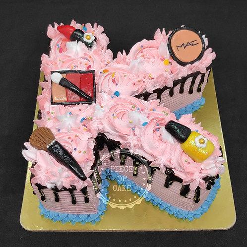 Make Up Theme Cake (20K Followers)