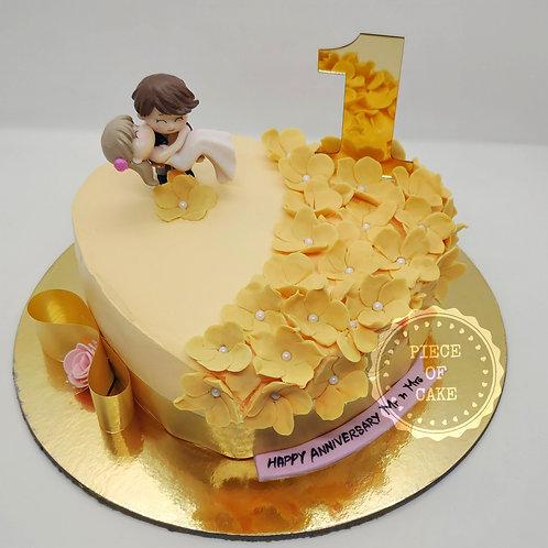 Mix Fruit Anniversary Cake