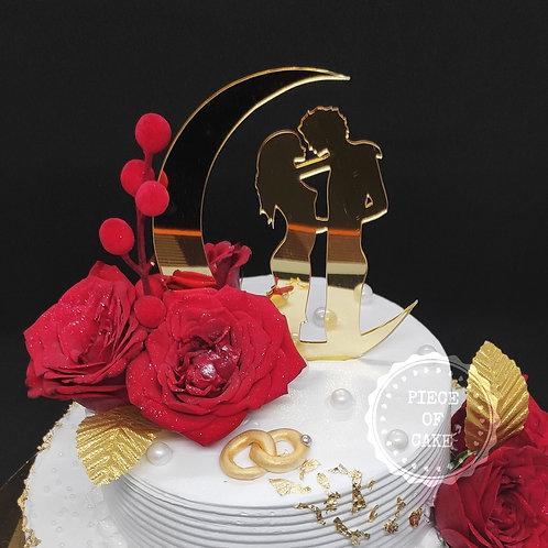 Chocolate Truffle Engagement Cake