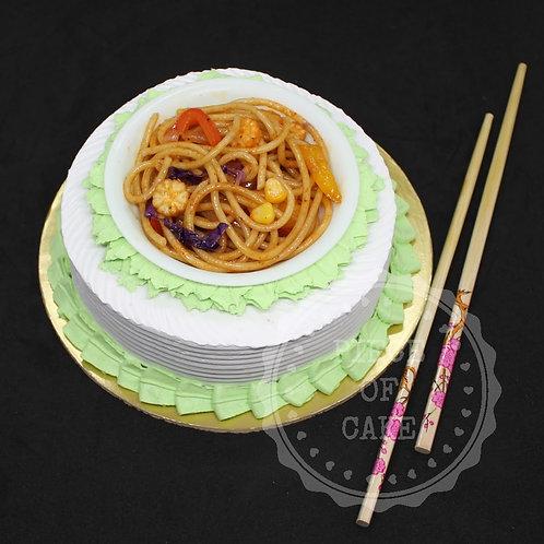 Spaghetti Black Currant Cake