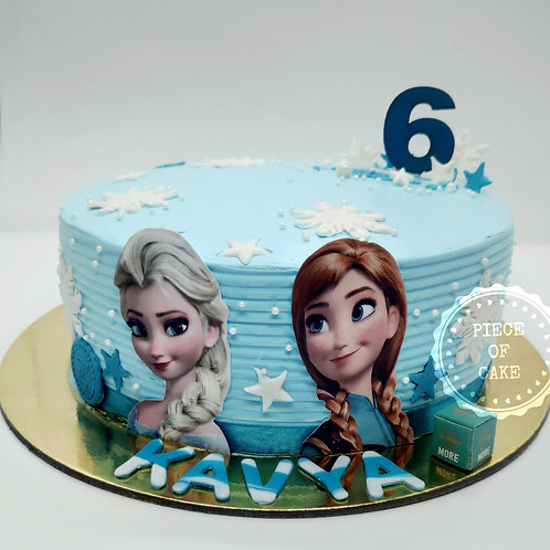 Frozen Themed Choco Chip Cake