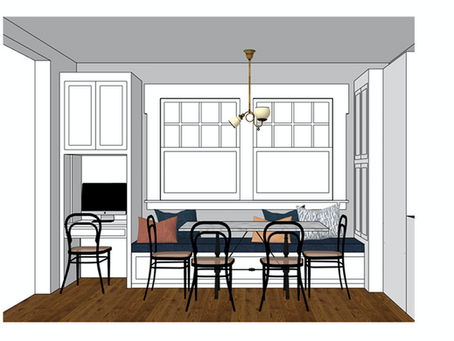 Banquette Design for the Goose Hollow Manor Project