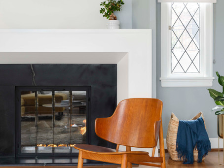 NW Hillside Home:  The Fireplace Transformation