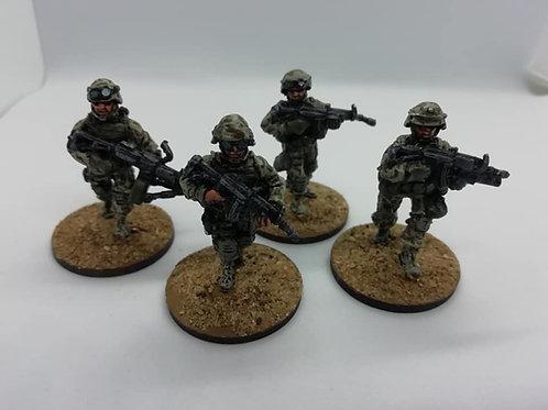 Estonian Infantry Advancing