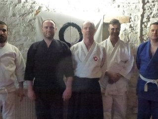 January special seminar. We focussed on the correct use of the elbow in Daito Ryu using the techniqu