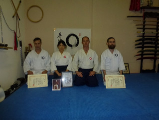 Last December, two of our members graded for their first level in Daito Ryu Aikijujutsu. There are o