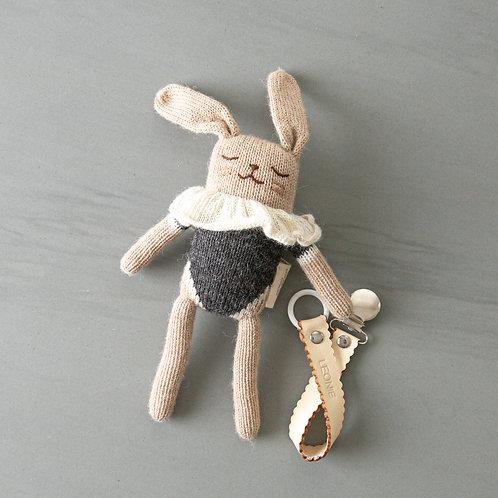 Bunny + pacifier chain combo