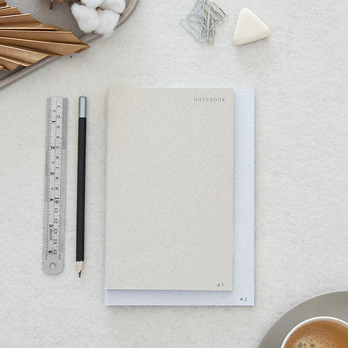 2 IN 1 NOTEBOOK · PEARL & WHITE