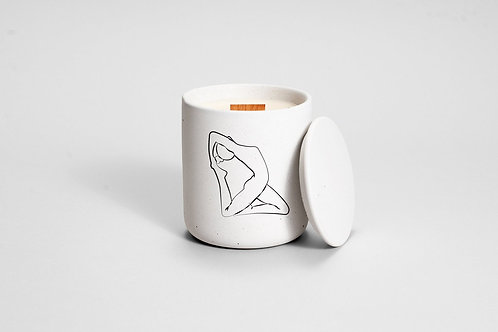 concrete yoga candle