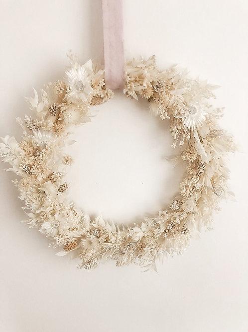 "dried flower wreath ""ivory"""