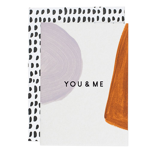"""YOU&ME"" MINI CARD"