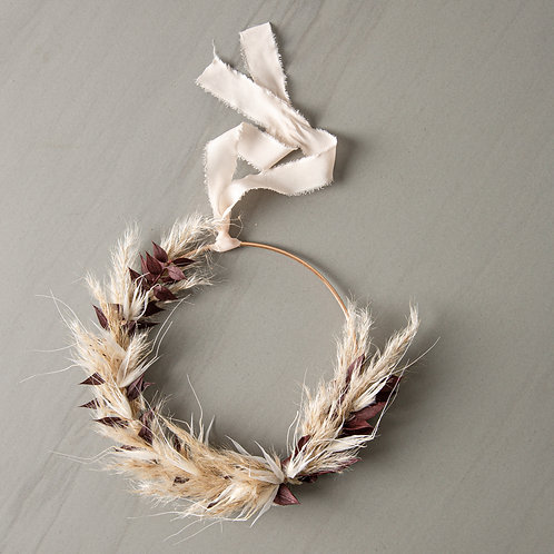 dried flower wreath MARY