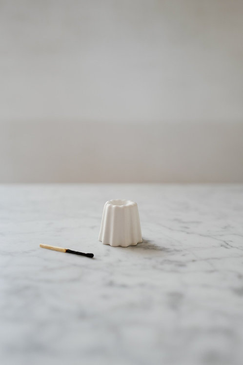 Porcelain Canele Candle Holder