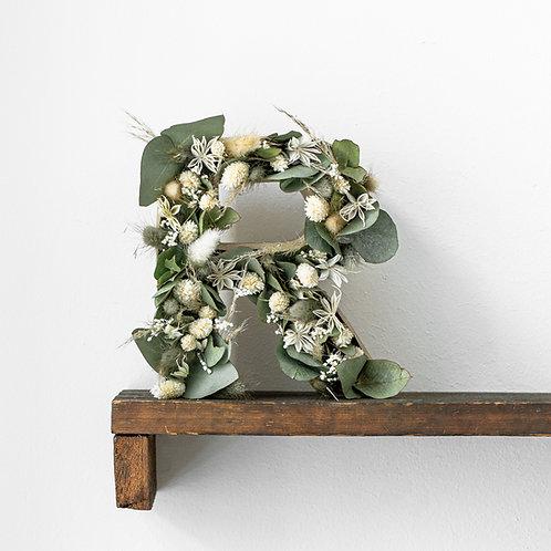 dried flower letter