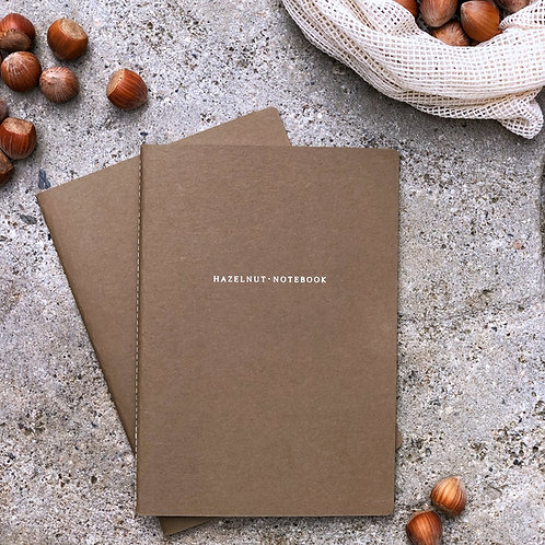 "Organic notebook ""hazelnut"""