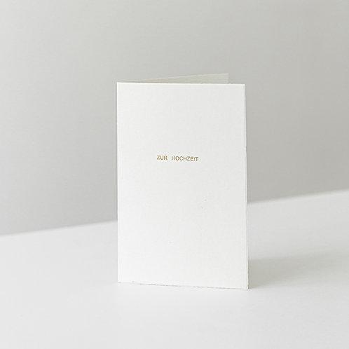 """card """"zur Hochzeit"""""""