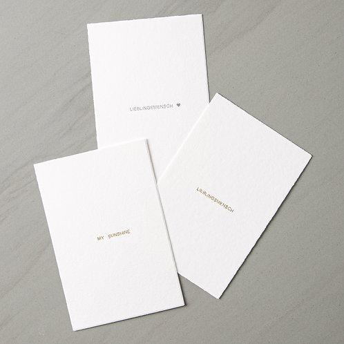 card Lieblingsmensch / my sunshine