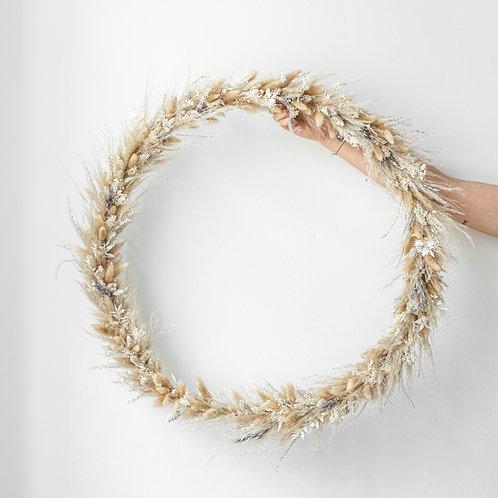 giant dried flower wreath FIONA