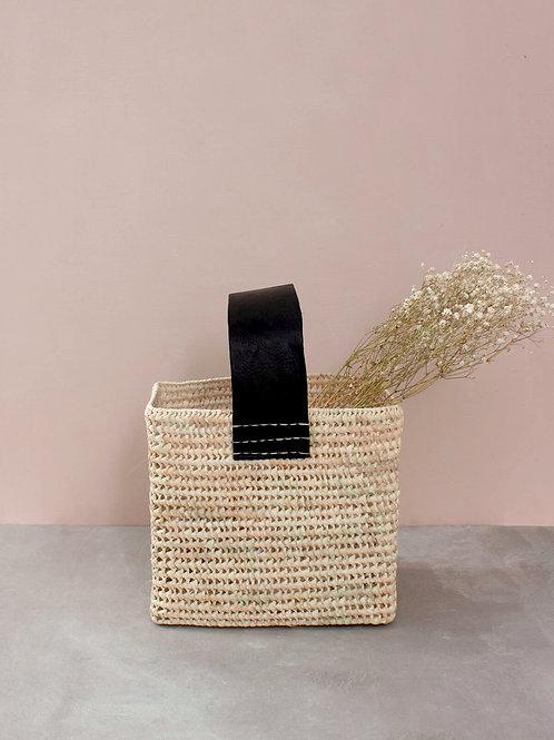 Tall Forage Basket Black