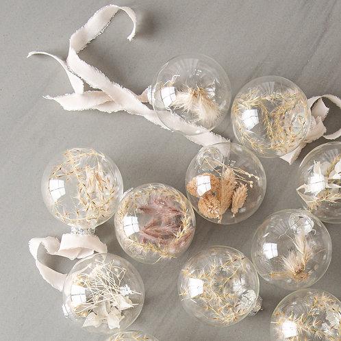 dried flower Christmas ball