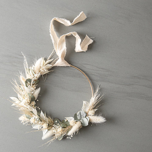 dried flower wreath HAILEY