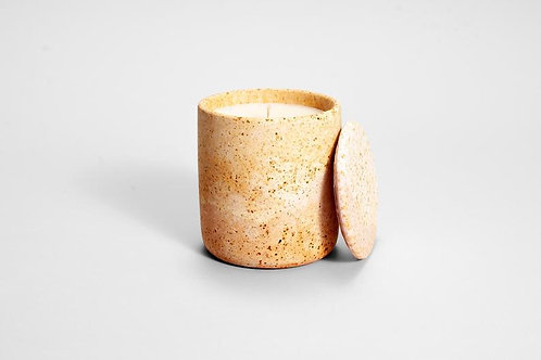 rusted pink concrete candle