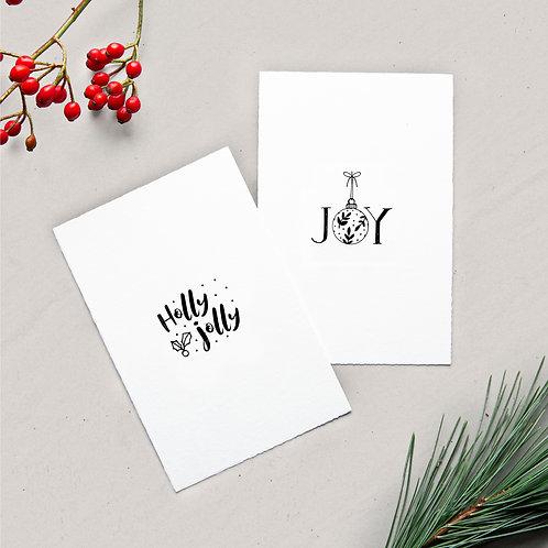 card set holly jolly / joy
