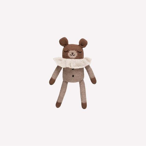 teddy knitted toy with beige Pyjama