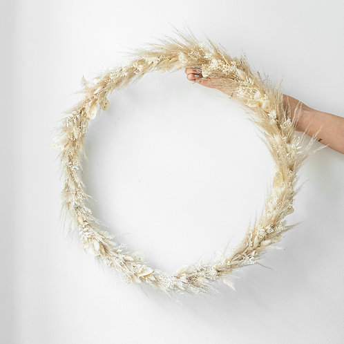 giant dried flower wreath LOLA