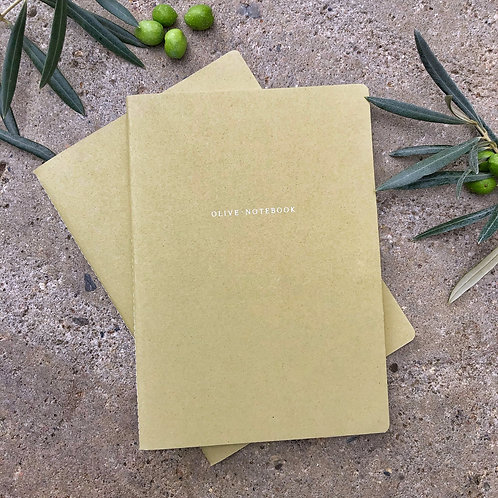 "Organic notebook ""olive"""
