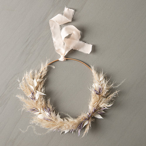 dried flower wreath LORY