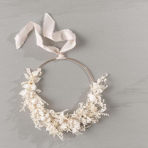 """flower wreath """"white"""""""