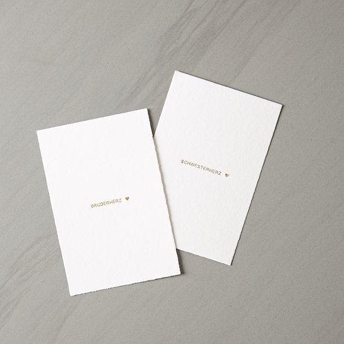 card Schwesterherz/ Bruderherz