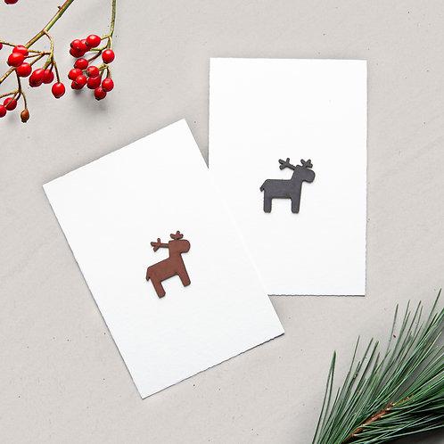christmas card reindeer