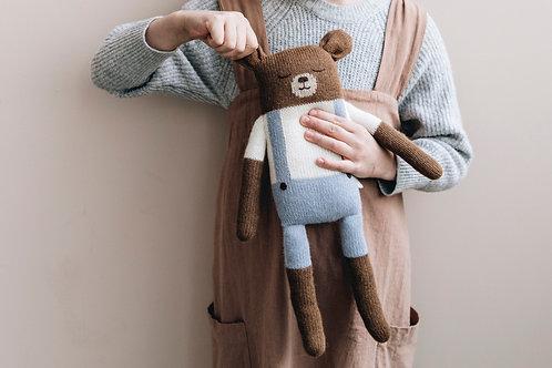 big teddy knit toy