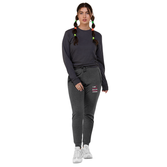 I AM BLESSED Embroidered Unisex Skinny Joggers