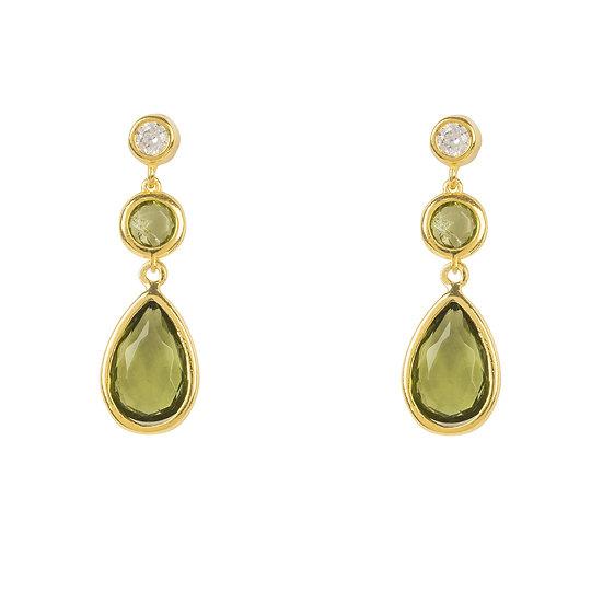 Tuscany Gemstone Drop Earring Gold Peridot