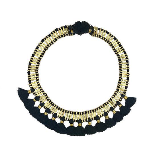 Temple Tassel Collar Necklace