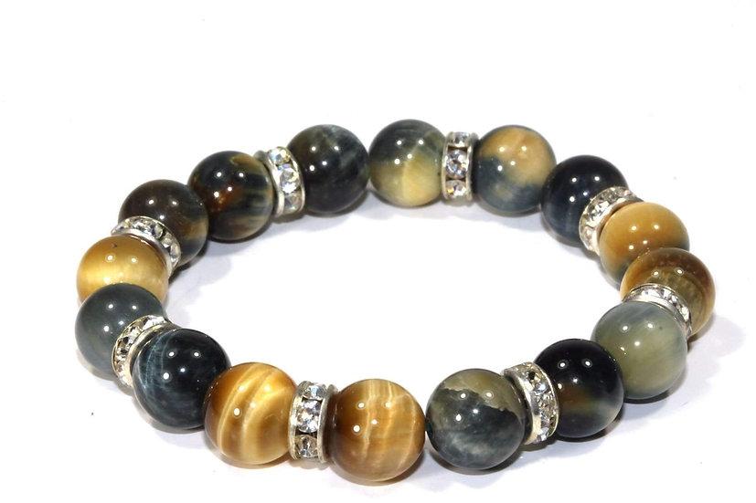 Medley Of Round Agate Stone Sparkle Yoga Bracelet