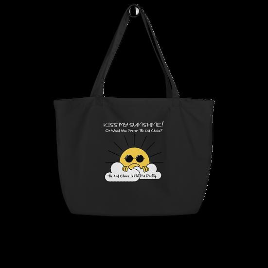 Kiss My Sunshine Large Organic Tote Bag