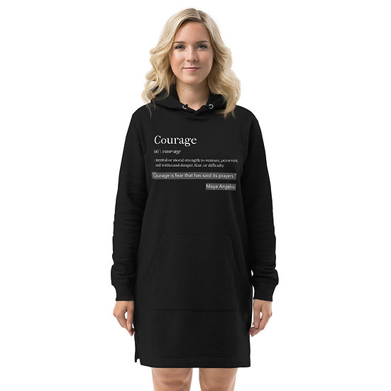 Courage Hoodie Dress, Eco-Friendly
