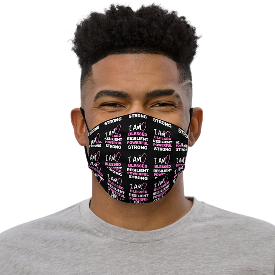I AM BLESSED Face Mask With Pocket For Filter or Napkin