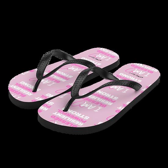I AM BLESSED Flip-Flops