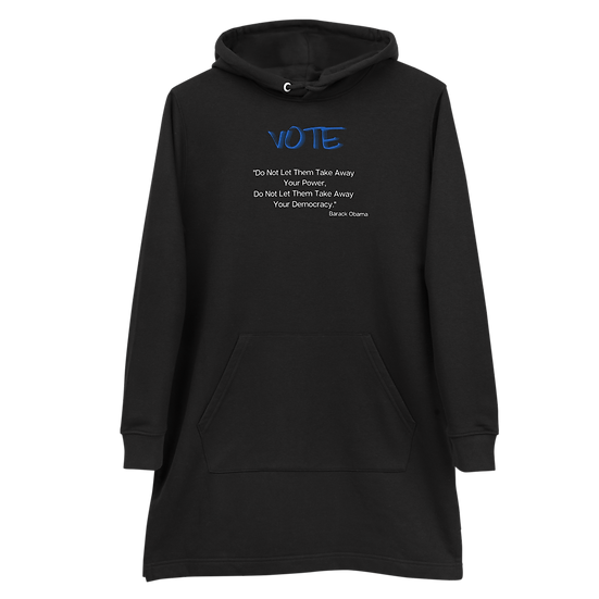 Vote BO Hoodie Dress, Eco-Friendly