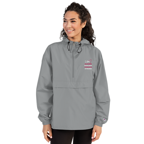 I AM BLESSED Embroidered Champion Packable Jacket