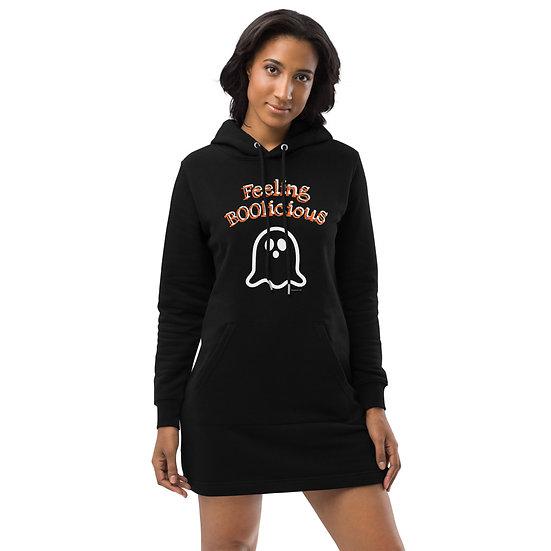 Feeling BOOlicious Halloween Hoodie Dress Eco-Friendly