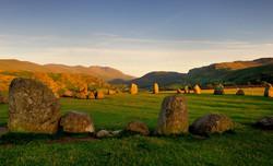 Stones at sunset