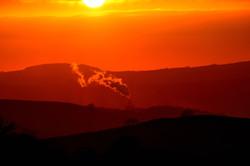 338/365 Smoking sunset