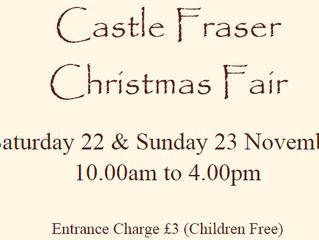 Eden Court (14-16 Nov) and Castle Fraser (22-23 Nov)