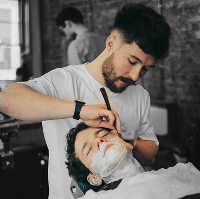 Men's cut throat barber